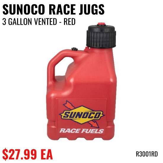 Sunoco Vented 3 Gallon Jug 1 Pack, Red